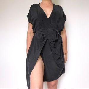 All Saints Silk Dress SZ M or 6 Drappy Dress 💓
